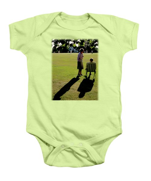 The Cricket Match Baby Onesie by Jon Delorme