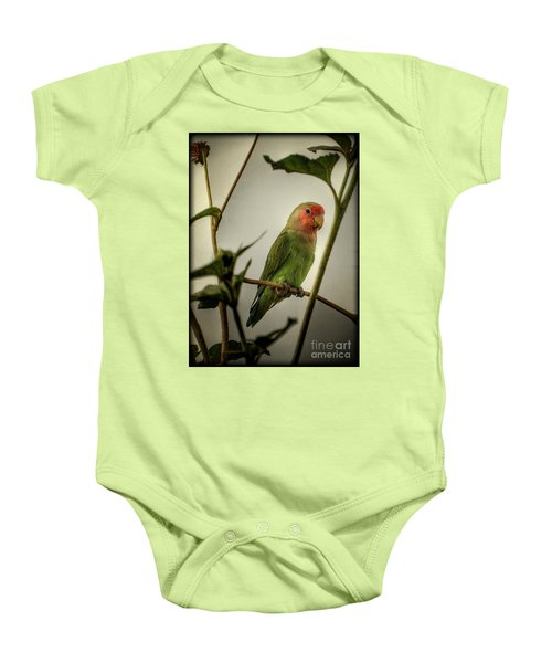 The Lovebird  Baby Onesie by Saija  Lehtonen