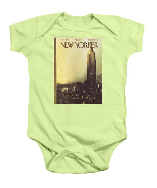 The New Yorker Cover - March 3rd, 1962 Baby Onesie