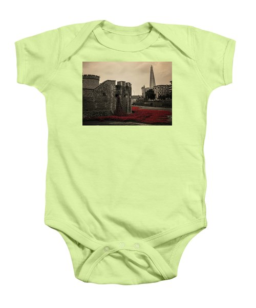 Tower Of London Baby Onesie by Martin Newman