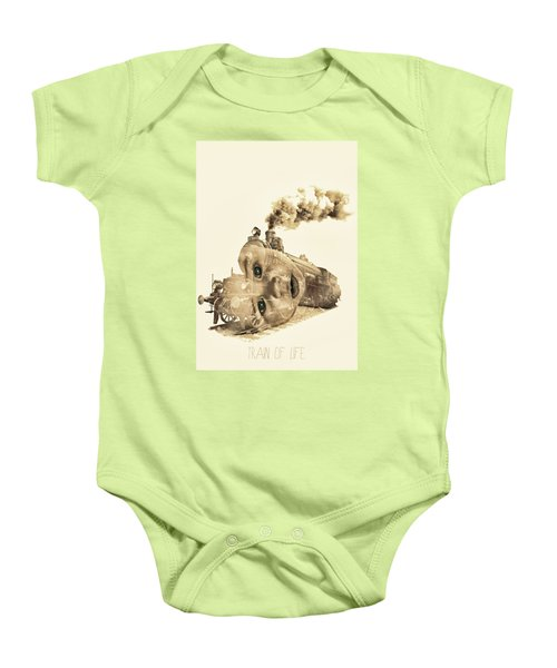 Train Of Life Baby Onesie by Mauro Mondin