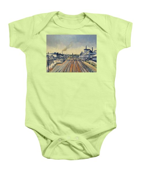 Train Tracks Maastricht Baby Onesie