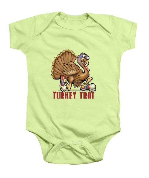 Turkey Trot Baby Onesie by Kevin Middleton