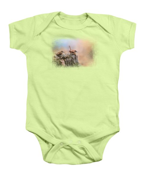 Two Little Wrens Baby Onesie