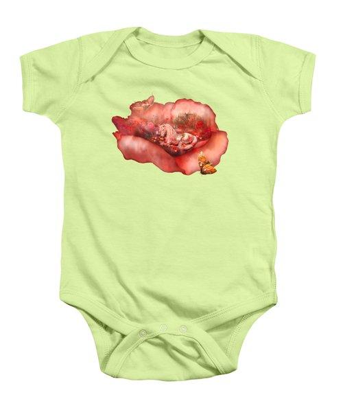 Unicorn Of The Poppies Baby Onesie