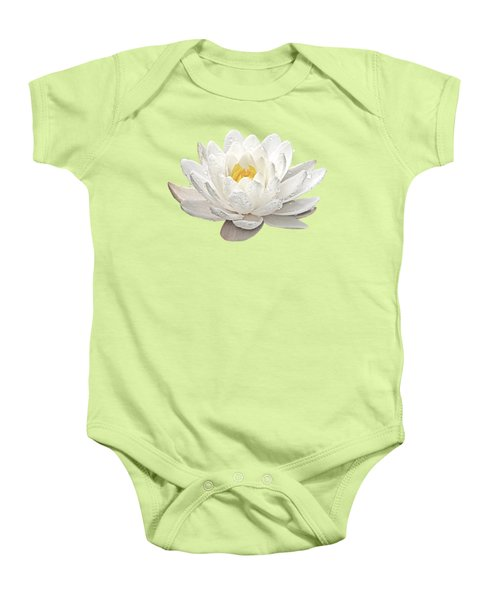 Water Lily Whirlpool Baby Onesie by Gill Billington