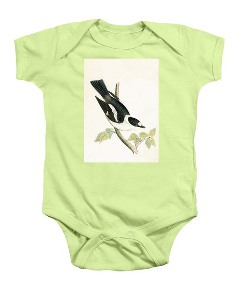 White Collared Flycatcher Baby Onesie