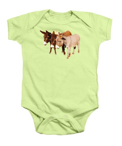 Wild Burro Buddies Baby Onesie by Sandra O'Toole