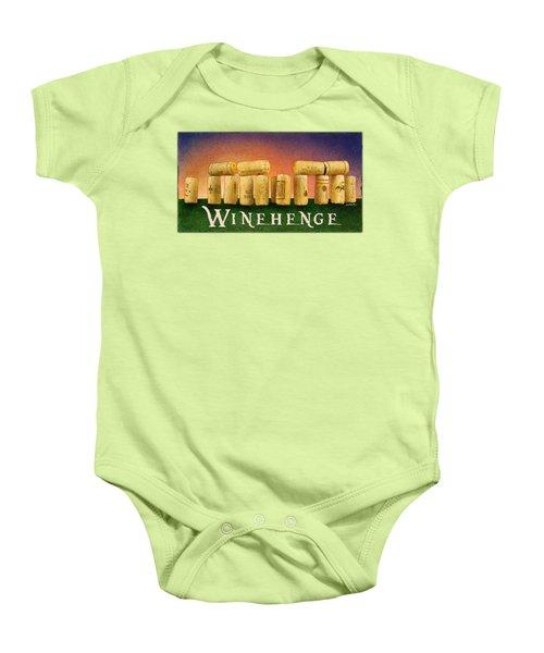 Winehenge Baby Onesie by Will Bullas