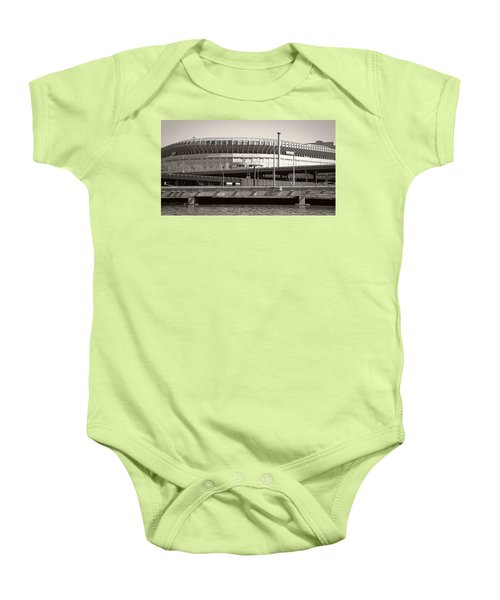 Yankee Stadium    1923  -  2008 Baby Onesie by Daniel Hagerman