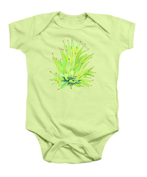 Yellow Octopus Agave Baby Onesie