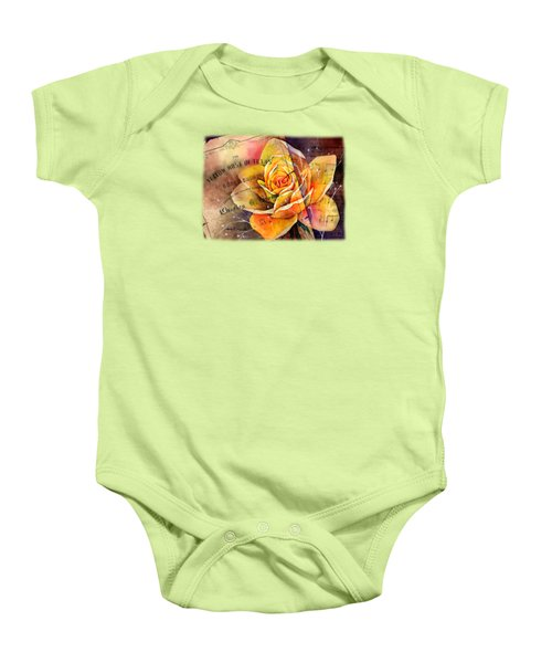 Yellow Rose Of Texas Baby Onesie