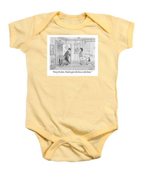 A Male Centaur Baby Onesie by Jason Patterson