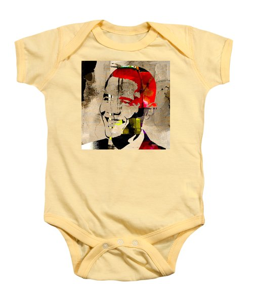 Baby Onesie featuring the photograph Barack Obama by Marvin Blaine