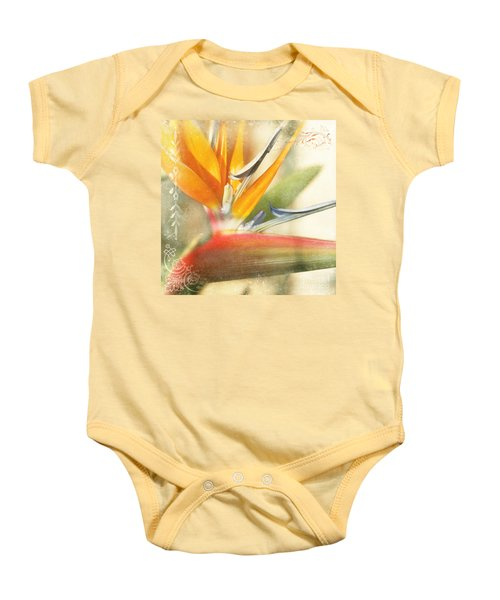 Bird Of Paradise - Strelitzea Reginae - Tropical Flowers Of Hawaii Baby Onesie