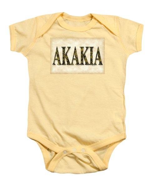 Acacia - Parchment Baby Onesie