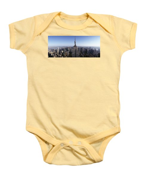Aerial View Of A Cityscape, Empire Baby Onesie by Panoramic Images