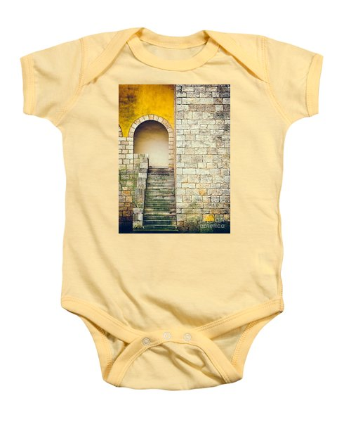 Baby Onesie featuring the photograph Arched Entrance by Silvia Ganora