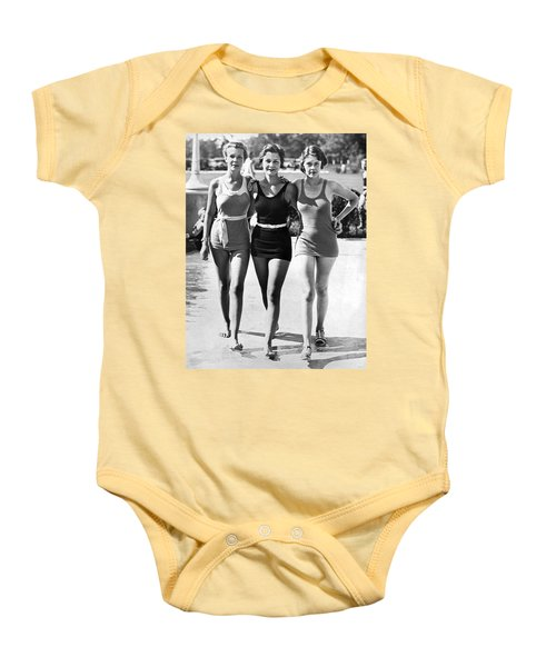 Army Bathing Suit Trio Baby Onesie by Underwood Archives