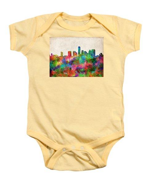 Austin Texas Abstract Panorama 4 Baby Onesie