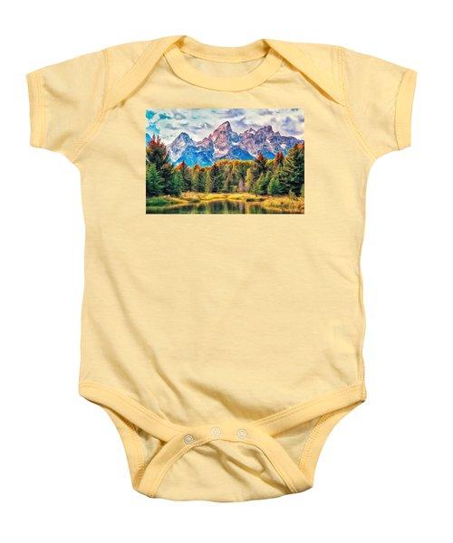 Autumn In The Tetons Baby Onesie