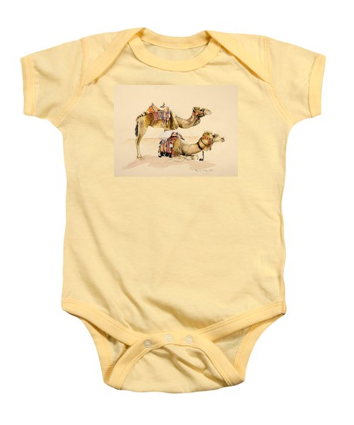 Camels From Petra Baby Onesie
