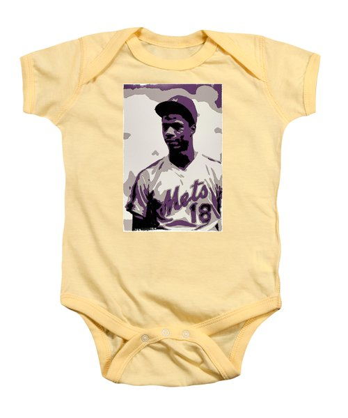 Darryl Strawberry Poster Art Baby Onesie