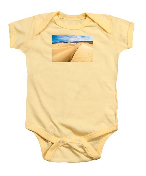 Endless Dunes - Panoramic View Of Sand Dunes In Death Valley National Park Baby Onesie