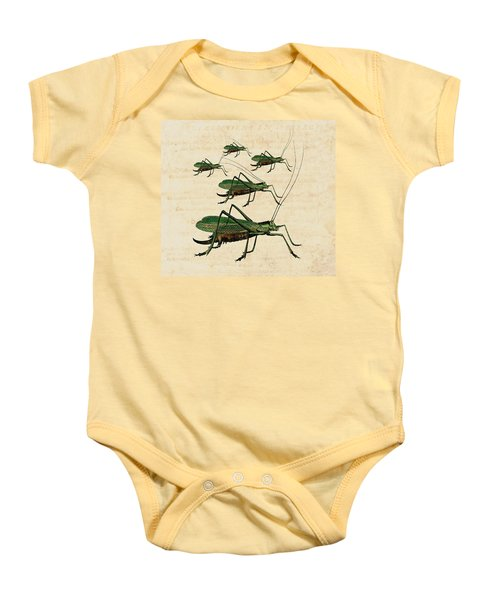 Grasshopper Parade Baby Onesie by Antique Images