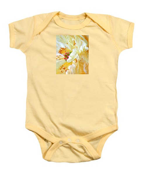 Baby Onesie featuring the photograph Heart Of Peony by Nareeta Martin