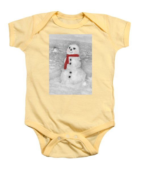 Holiday Snowman Baby Onesie