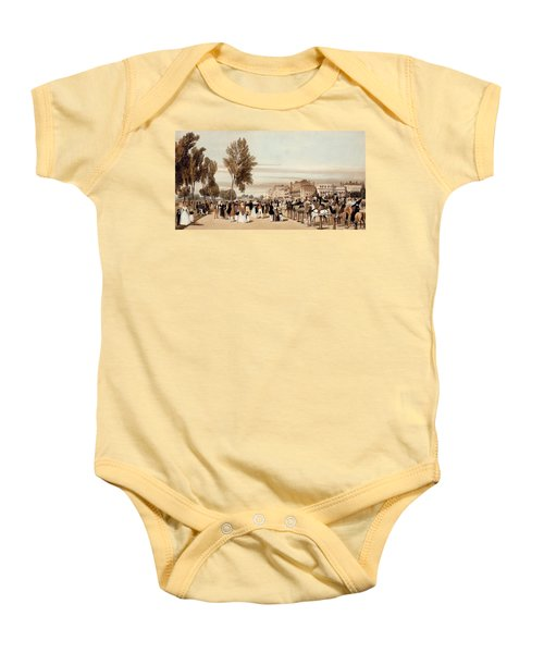 Hyde Park, Towards The Grosvenor Gate Baby Onesie by Thomas Shotter Boys