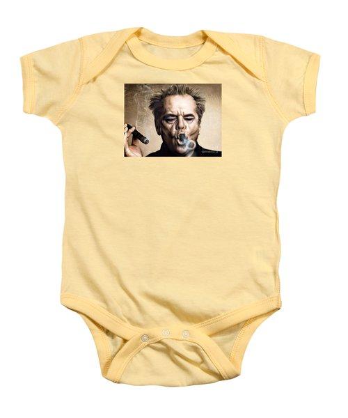 Jack Nicholson Baby Onesie by Andrzej Szczerski