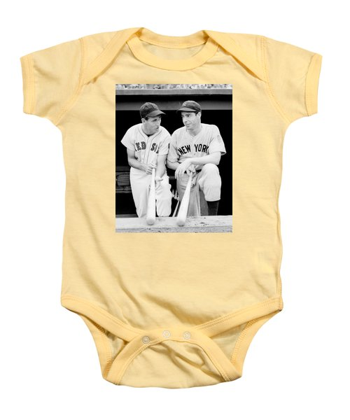 Joe Dimaggio And Ted Williams Baby Onesie