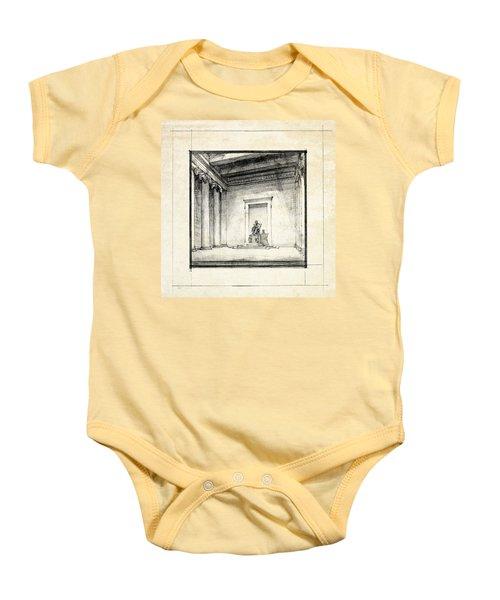 Lincoln Memorial Sketch IIi Baby Onesie by Gary Bodnar