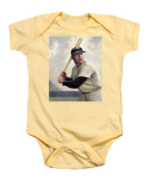 Mickey Mantle Baby Onesie