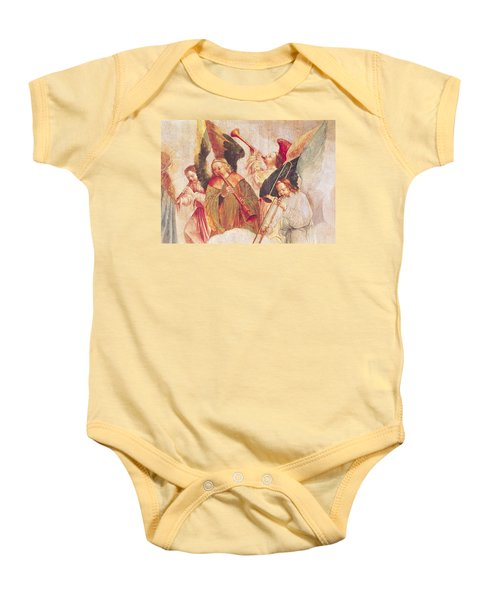 Musical Angels, Detail From The Assumption Of The Virgin Baby Onesie