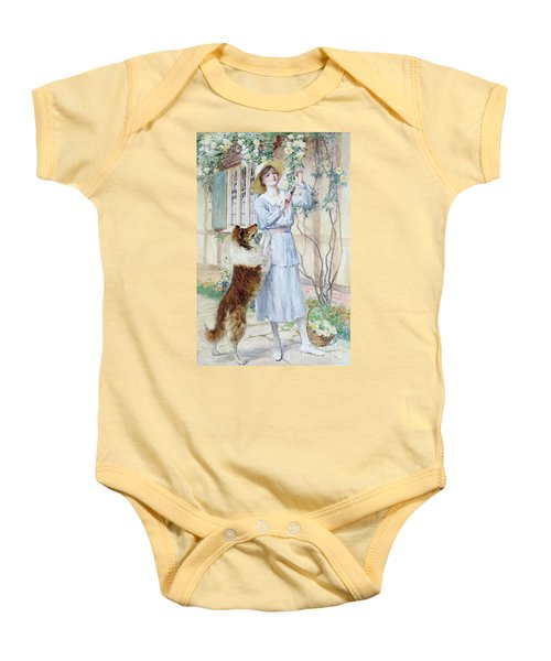 Picking Roses Baby Onesie by William Henry Margetson