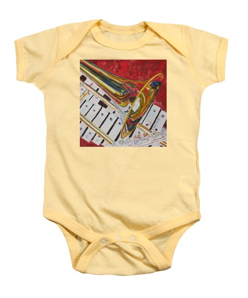 Ringing In The Brass Baby Onesie by Jenny Armitage