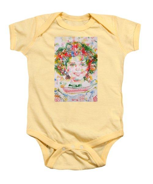 Shirley Temple - Watercolor Portrait.1 Baby Onesie