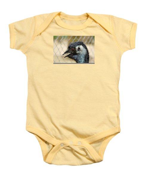 Smiley Face Emu Baby Onesie by Kaye Menner