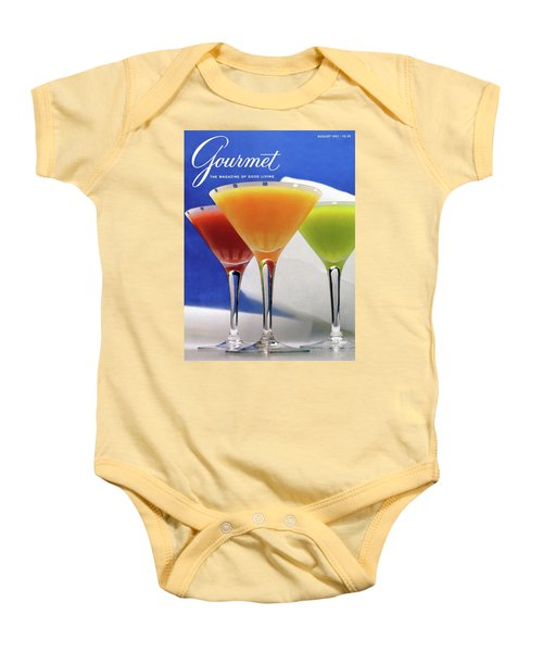 Summer Cocktails Baby Onesie