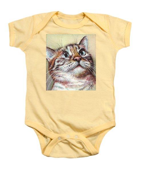 Surprised Kitty Baby Onesie by Olga Shvartsur
