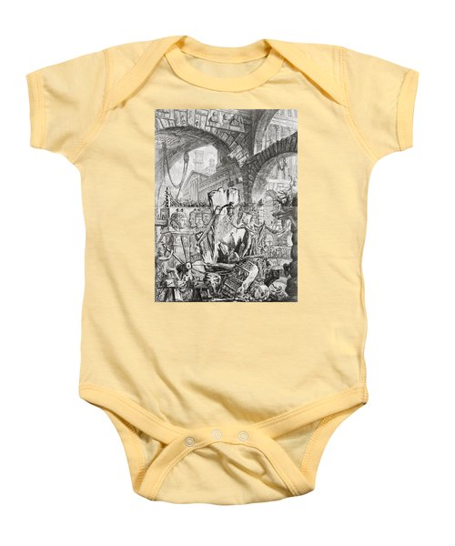 The Man On The Rack Plate II From Carceri D'invenzione Baby Onesie