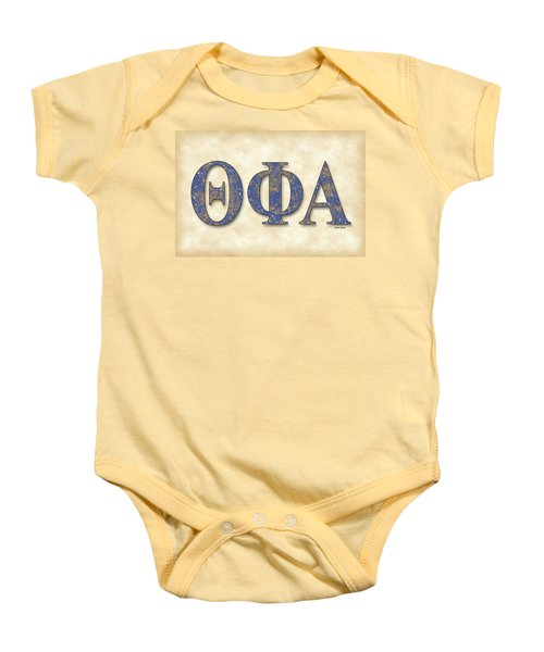 Theta Phi Alpha - Parchment Baby Onesie by Stephen Younts