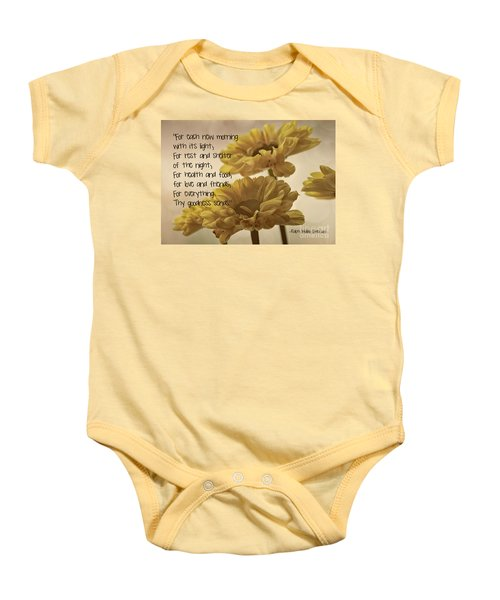 Thoughts Of Gratitude Baby Onesie