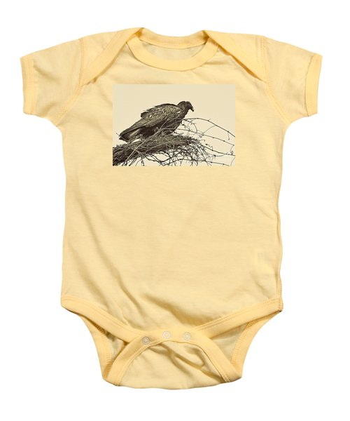 Turkey Vulture V2 Baby Onesie by Douglas Barnard