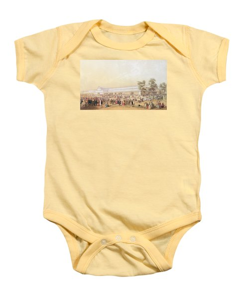 View Of The Crystal Palace Baby Onesie by George Baxter