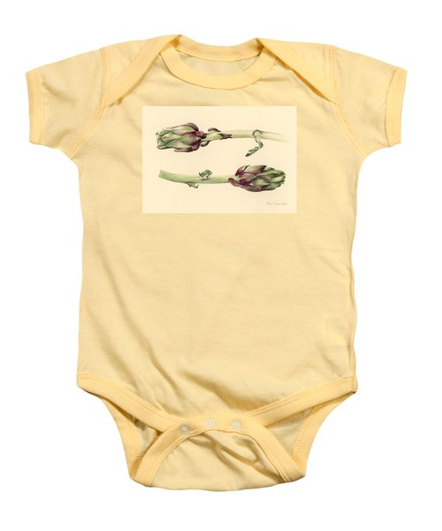 Artichokes Baby Onesie by Alison Cooper