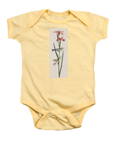 Blue Yellow-backed Warbler Baby Onesie